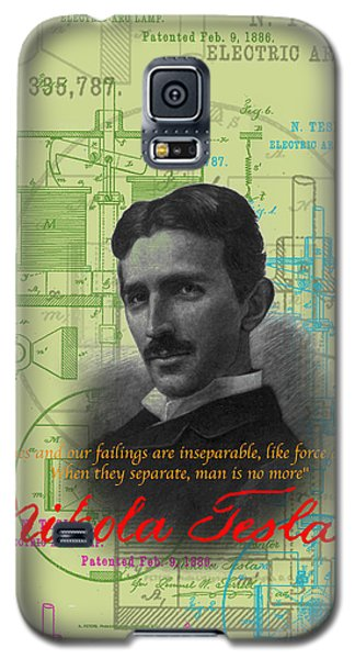 Nikola Tesla #3 Galaxy S5 Case by Jean luc Comperat
