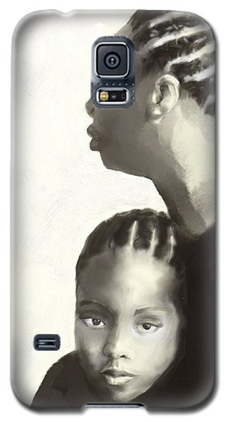 Galaxy S5 Case featuring the drawing Nina And Lisa Simone by Vannetta Ferguson