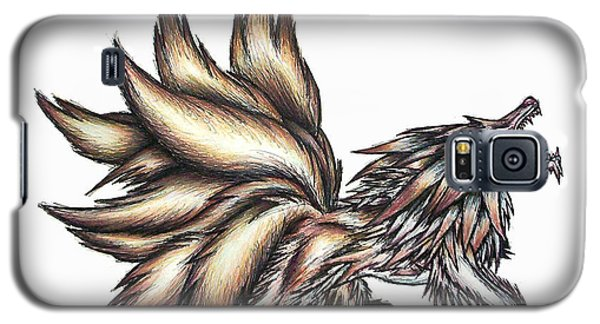 Galaxy S5 Case featuring the painting Nine Tails Wolf Demon by Shawn Dall