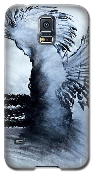 Galaxy S5 Case featuring the painting Nnamid by Ayasha Loya