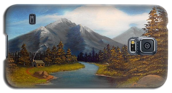 Galaxy S5 Case featuring the painting No Electronics Here by Sheri Keith