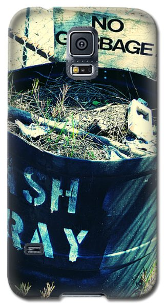Galaxy S5 Case featuring the photograph Ash Tray Steel Drum by Laurie Tsemak