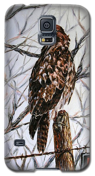 Galaxy S5 Case featuring the painting No Hunting by Craig T Burgwardt