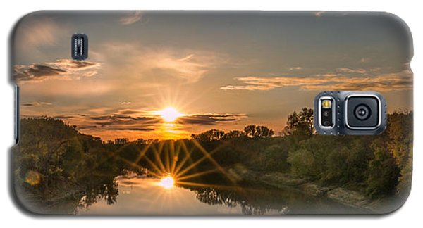 Mississippi Sunset Double Starburst Galaxy S5 Case