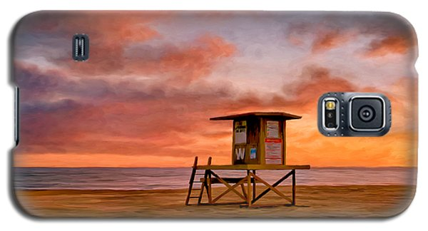 No Lifeguard On Duty At The Wedge Galaxy S5 Case by Michael Pickett