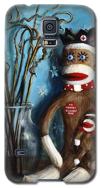 No Monkey Business Here 1 Galaxy S5 Case