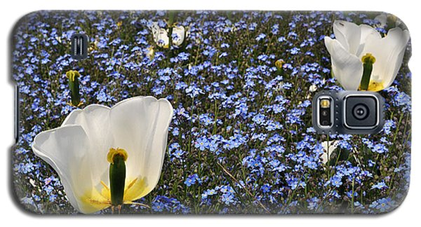 Galaxy S5 Case featuring the photograph No More Tulips by Simona Ghidini