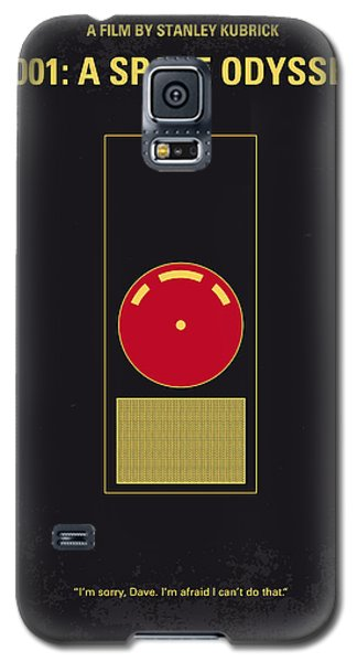 No003 My 2001 A Space Odyssey 2000 Minimal Movie Poster Galaxy S5 Case by Chungkong Art