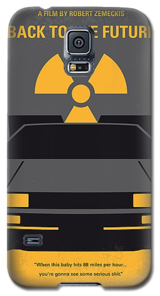 No183 My Back To The Future Minimal Movie Poster Galaxy S5 Case