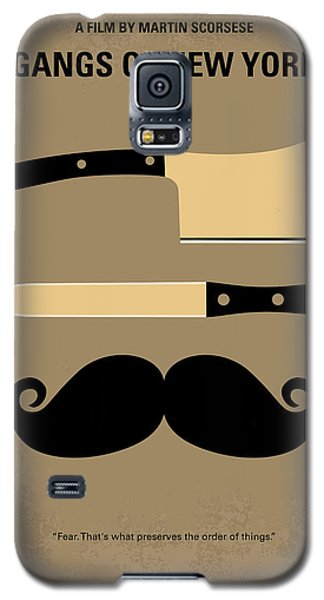 No195 My Gangs Of New York Minimal Movie Poster Galaxy S5 Case by Chungkong Art