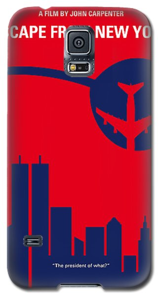 No219 My Escape From New York Minimal Movie Poster Galaxy S5 Case by Chungkong Art