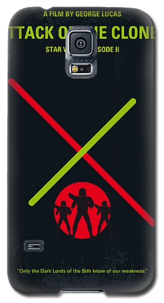 Knight Galaxy S5 Case - No224 My Star Wars Episode II Attack Of The Clones Minimal Movie Poster by Chungkong Art
