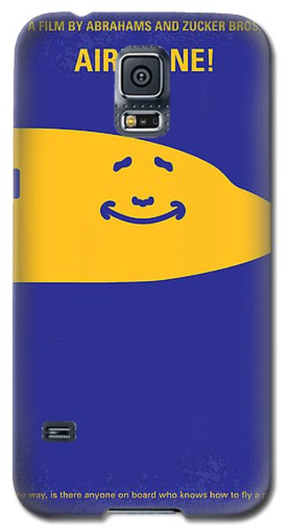 Airplane Galaxy S5 Case - No392 My Airplane Minimal Movie Poster by Chungkong Art