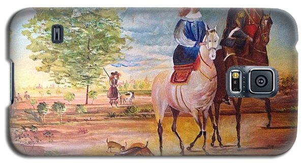 Galaxy S5 Case featuring the painting Nobel  Knight And Lady by Egidio Graziani