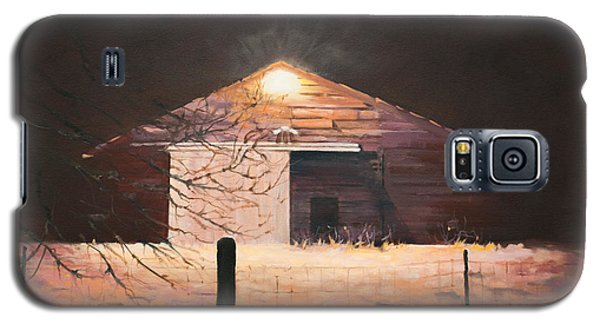 Galaxy S5 Case featuring the painting Nocturnal Barn by Rebecca Matthews
