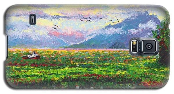 Nomad - Alaska Landscape With Joe Redington's Boat In Knik Alaska Galaxy S5 Case