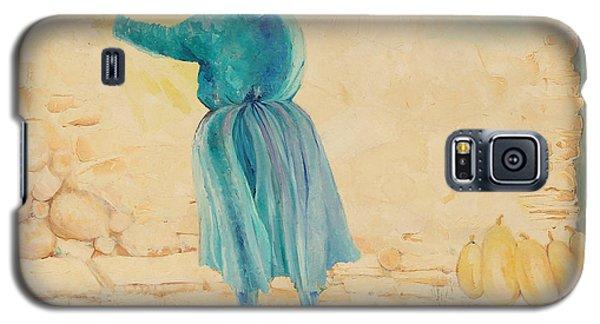 Galaxy S5 Case featuring the painting Forenza Vita Nonna Filomena  Celesta Sole by Giovanni Caputo