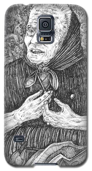 Galaxy S5 Case featuring the drawing Forenza Vita Nonna Filomena - Famiglia Mia by Giovanni Caputo
