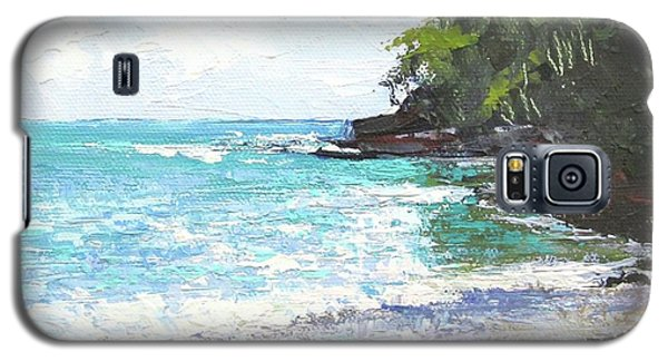 Galaxy S5 Case featuring the painting Noosa Heads Main Beach Queensland Australia by Chris Hobel