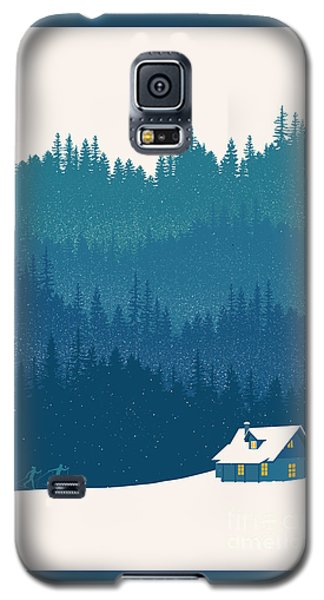 Nordic Ski Scene Galaxy S5 Case