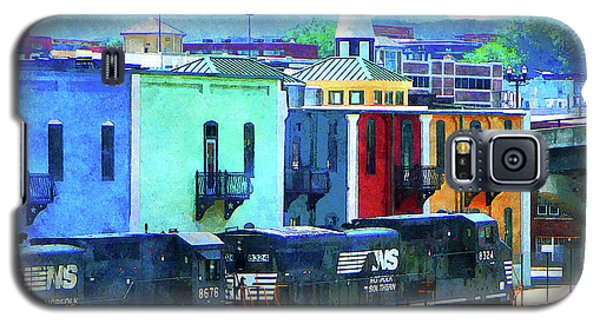 Norfolk Southern 8324 And 8676 Locomotives Galaxy S5 Case by Susan Savad