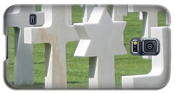 Galaxy S5 Case featuring the photograph Normandy American Cemetery by HEVi FineArt