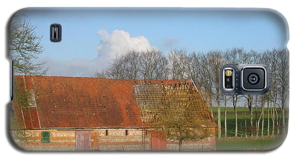 Galaxy S5 Case featuring the photograph Normandy Storm Damaged Barn by HEVi FineArt