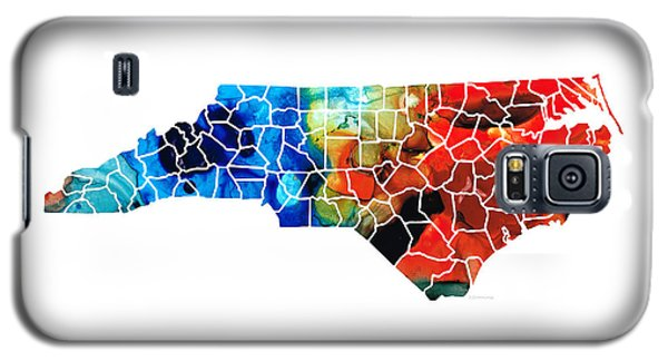 North Carolina - Colorful Wall Map By Sharon Cummings Galaxy S5 Case