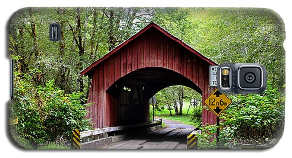 North Fork Yachats Covered Bridge Galaxy S5 Case
