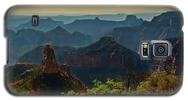 Galaxy S5 Case featuring the photograph North Rim Grand Canyon Imperial Point by Bob and Nadine Johnston