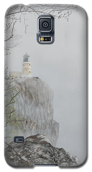 North Shore Lighthouse In The Fog Galaxy S5 Case