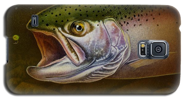 Galaxy S5 Case featuring the painting North Shore Steelhead by Jon Q Wright