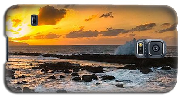 North Shore Sunset Crashing Wave Galaxy S5 Case