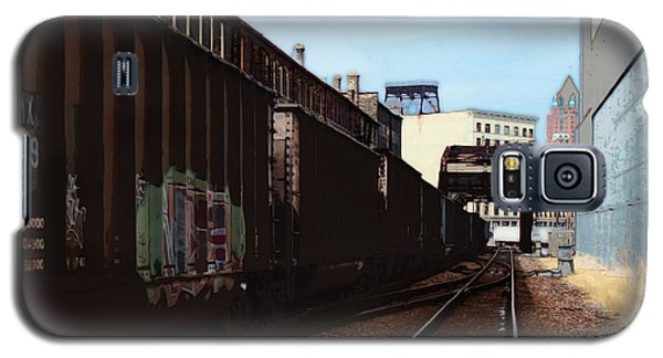 Galaxy S5 Case featuring the digital art Northbound Freight To Milwaukee by David Blank