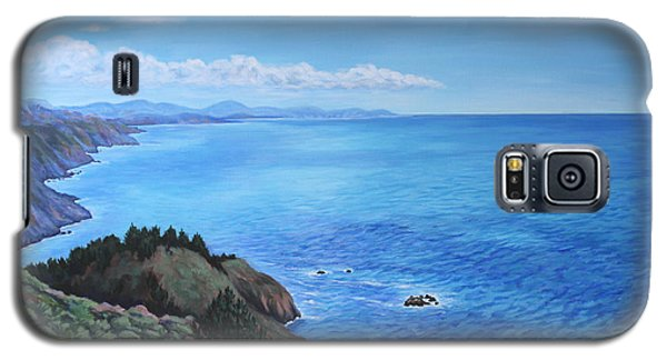 Galaxy S5 Case featuring the painting Northern California Coastline by Penny Birch-Williams