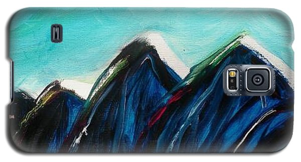Galaxy S5 Case featuring the painting Northern Face by Carol Duarte