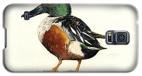 Duck Galaxy S5 Case - Northern Shoveler by Juan  Bosco
