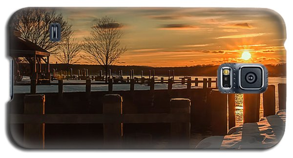 Northport New York Winter Sunset Galaxy S5 Case