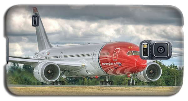 Galaxy S5 Case featuring the photograph Norwegian 787 by Jeff Cook