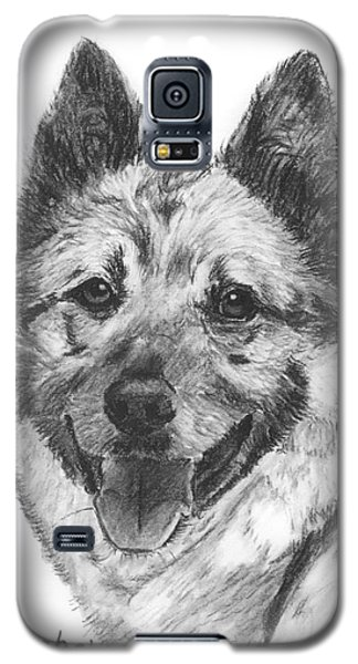 Norwegian Elkhound Sketch Galaxy S5 Case