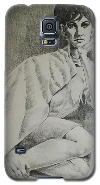 Galaxy S5 Case featuring the painting Nostalgic Beauty by Al Brown