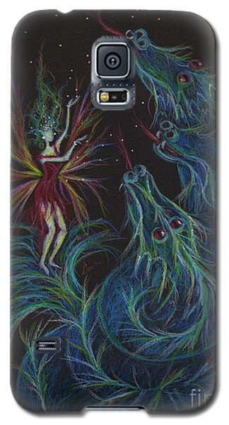 Galaxy S5 Case featuring the drawing Notes Are For Singing Not Eating by Dawn Fairies