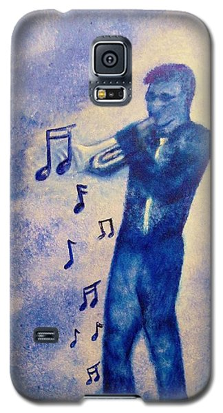 Notes Of Blue Galaxy S5 Case by Valorie Cross