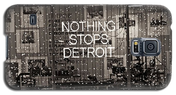 Nothing Stops Detroit  Galaxy S5 Case
