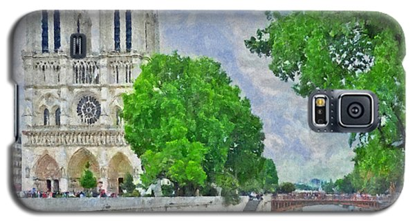 Notre Dame And The River Seine Galaxy S5 Case