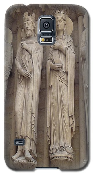 Galaxy S5 Case featuring the photograph Notre Dame Cathedral Saints by Deborah Smolinske