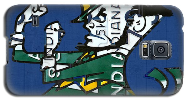 Notre Dame Fighting Irish Leprechaun Vintage Indiana License Plate Art  Galaxy S5 Case