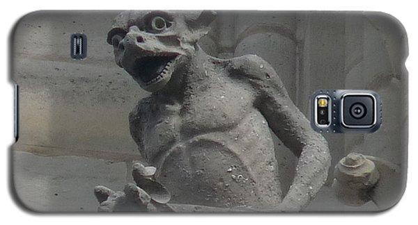 Galaxy S5 Case featuring the photograph Notre Dame Gargoyle by Deborah Smolinske