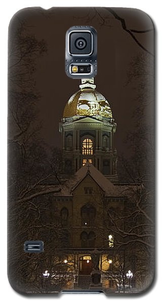 Notre Dame Golden Dome Snow Galaxy S5 Case