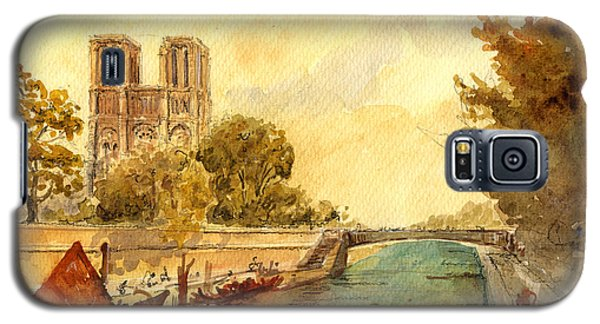 Notre Dame Paris. Galaxy S5 Case by Juan  Bosco